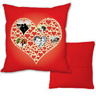PERSONALISED LOVE HEARTS PHOTO CUSHION IDEAL VALENTINES DAY GIFT L&S PRINTS