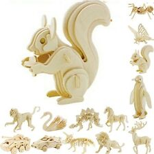 Animals 3D Wooden Modelling Kits Models Jigsaw Puzzle Fancy Toy for Children DIY