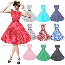Maggie Tang 50s 60s Vintage Audrey Hepburn Swing Rockabilly Ball Gown Dress 533