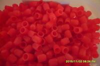 100 x Red Plastic Car, Tube & Cycles Valve Dust Cap Brand New In Packet