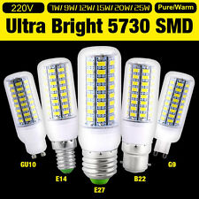 1/4/10x Bright E27 E14 G9 B22 Bayonet 5730 SMD LED Corn Light Spot Bulb 220-240V