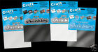 6 LARGE FROSTED SHRINKLES SHRINKIE PLASTIC SHRINK ART 260MM x 200MM