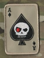 SEAL SP OPS ODA AFSOC TACP CCT COMBAT CONTROL VELCRO PATCH: ACE Terminator Skull