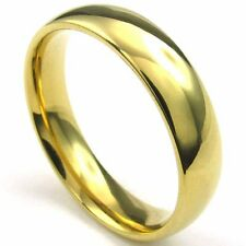 18K Gold Filled Band Womens Mens Ring Size 6 7 8 9 10 11
