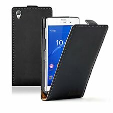 ULTRA SLIM Leather Flip Case Cover Pouch Saver for Sony Xperia Z3 experia