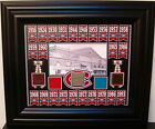 CANADIENS 24 STANLEY CUP CHAMPIONS BANNER 8X10 W/ 5 MONTREAL FORUM SEAT FRAMED