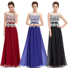 Women's Casual Party Dress Formal Long Party Gowns Graduation Christmas 08429