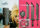 Anime Final Fantasy Could Sword Cosplay Pendant Necklace Metal Toy Set New