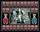 MAURICE RICHARD-JEAN BELIVEAU STANLEY CUP BANNER 8x10 PHOTO FORUM RED-BLUE SEAT
