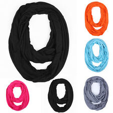 Men women Soft Infinity Solid Color Jersey Fashion Scarf Shawl Wrap Loop 5 color