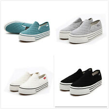 Spring Fresh Girls Womens Oxford Flat Shoes Platform Pull On Casual Sneakers SZ8