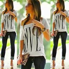 NEW SUMMER WOMENS CASUAL LOOSE TOP T-SHIRT 8-22 SEXY LADIES EVENING PARTY BLOUSE