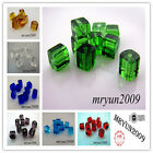 Free 200pcs Glass CRYSTAL Square CUBE BEADS 8 Color U pick Dream Beads 4x4mm
