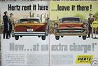 1957 Chevy Bel Air Hertz ORIGINAL Vintage Ad CMY STORE 4MORE ADS   5+= FREE SHIP