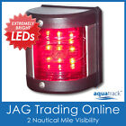 12V 9-LED PORT LIGHT - Red Navigation/Nav Side Vertical Mount- Boat/Yacht/Marine