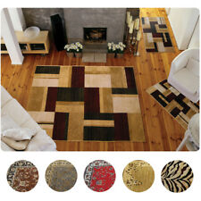 3 Piece Set Modern or Traditional Area Rugs Scatter Throw Carpet Mat