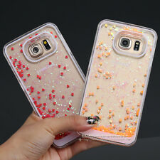 Dynamic Quicksand Glitter Heart Liquid Hard Phone Case Cover For iPhone Samsung