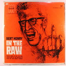 BERT HENRY: In The Raw LP Sealed (non-nude cover, sl corner bends) Comedy