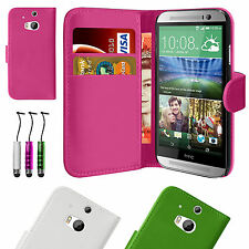 Portefeuille cuir Flip Housse pour HTC One M8 2014 free screen protector