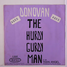 DONOVAN: Hurdy Gurdy Man / Teen Angel 45 (PS, 3 tags oc, faint foxing spots) Ro
