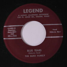 BURD FAMILY: Blue Tears / Moon, Take This Kiss 45 Country