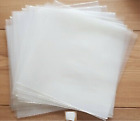 "50 12"" PLASTIC POLYTHENE RECORD SLEEVES / COVERS 450G + FREE DELIVERY"