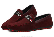 2015 New Leather Slip On Mens Driving Moccasin Loafer Casual Shoes