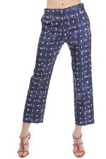 MARNI Woman Blue Trousers pants Silk Cotton Made in Italy New with tags