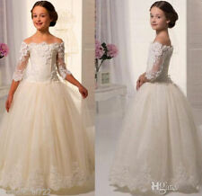 Wedding Party Formal Flower Girls Dress baby Pageant dresses Size 1-Size14