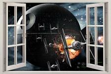 Star Wars DEATH STAR 3D Window View Decal WALL STICKER Home Decor Art Mural