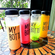 Hot Unisex Creative My Bottle Pattern Simple Cylindrical Portable Cups With Bag