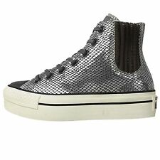 Converse Chuck Taylor All Star Platform Chelsee Silver Womens Shoes 545012C
