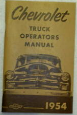 54 1954 Chevy Chevrolet truck Owners manual glove box