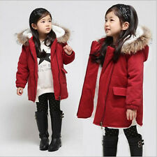 Parkas 3-8Y Kinder Mädchen Winter Zipper Wolle verdickt Windjacke Hooded Mantel
