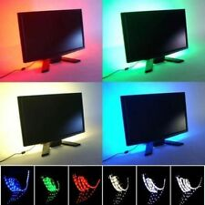 Impermeable LED Luz Tira TV PC Fondo Flexible Strip Light Xmas Party Lámp 5V USB
