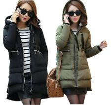 Winter Womens Hooded Down Cotton Padded Military Jacket Loose Warm Outwear Coat