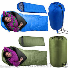 3-4 Season Waterproof Camping Hiking Suit Case Envelope Single Sleeping Bag +Bag