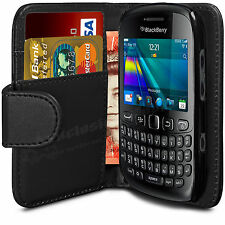 Flip Wallet Leather Case Cover For BlackBerry Curve 9320 & Free Screen Protector