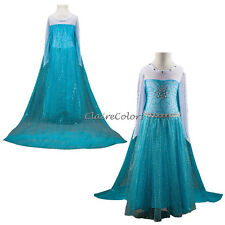 Kinder Kostüm Kleid Prinzessin Elsa Frozen Eiskönigin Cosplay Party Ballkleid