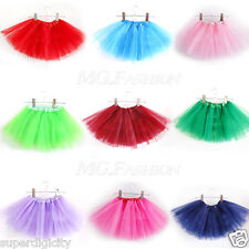 Kids Girls Tulle Tutu Skirt Party Ballet Dancewear Toddler Dress Pettiskirt New