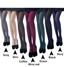 New 80D Opaque Footed Tights Sexy Women's Pantyhose Stockings Socks Colorful