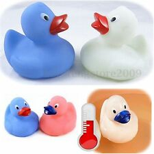Mini Rubber Squeaky Duck Baby Bathing Bath Tub Play Fun Float Color Changing Toy