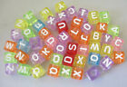 2800PCS Mixed colour cube alphabet beads 6mm W18698