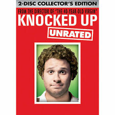 Knocked Up (DVD, 2007, 2-Disc Set, Unrated & Unprotected) WS Free Ship #S1377