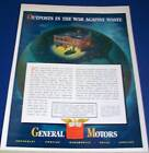 1942 General Motors outpost war against waste WWII Ad