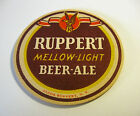 """(ROUND NOT OVAL) RUPPERT BEER ROUND 4"""" INCH 1- SIDED COASTER NEW YORK NY"""
