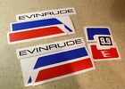 Evinrude Vintage Outboard Motor Decal Kit 9.9 HP FREE SHIP + FREE Fish Decal!