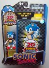 Sonic The Hedgehog Figure w Collector's Tin Set 20th Anniversary