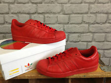 ADIDAS SUPERSTAR PHARRELL WILLIAMS SUPERCOLOUR RED TRAINERS 7 8 9 10 12 £66.99