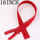 50 Red Nylon Invisible Zipper Sewing 16inch J0500-13